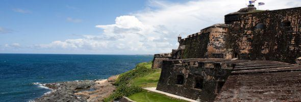 El Morro fort located in Old San Juan Puerto Rico.