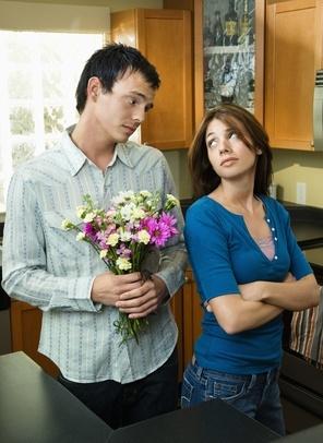Boyfriend begging forgiveness